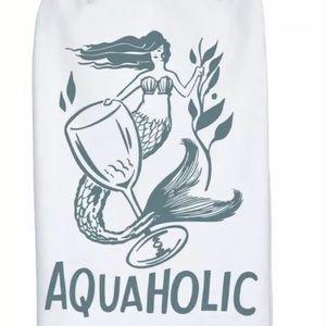 Aquaholic Wine Dish Towel Primitives By Kathy